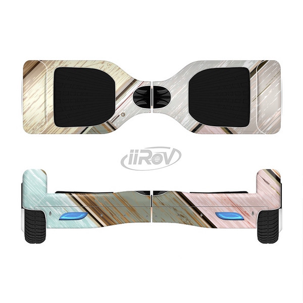 The Zigzag Vintage Wood Planks Full-Body Skin Set for the Smart Drifting SuperCharged iiRov HoverBoard