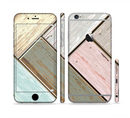 The Zigzag Vintage Wood Planks Sectioned Skin Series for the Apple iPhone 6/6s Plus