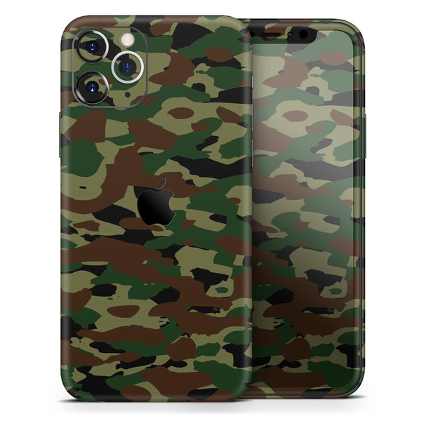 Traditional Camouflage - Skin-Kit compatible with the Apple iPhone 12, 12 Pro Max, 12 Mini, 11 Pro or 11 Pro Max (All iPhones Available)