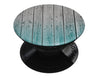 Trendy Teal to White Aged Wood Planks - Skin Kit for PopSockets and other Smartphone Extendable Grips & Stands