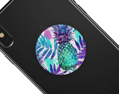 Tropical Summer Pineapple v1 - Skin Kit for PopSockets and other Smartphone Extendable Grips & Stands