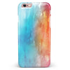 Turquoise to Pink Absorbed Watercolor Texture iPhone 6/6s or 6/6s Plus INK-Fuzed Case