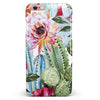 Vintage Watercolor Cactus Bloom iPhone 6/6s or 6/6s Plus INK-Fuzed Case