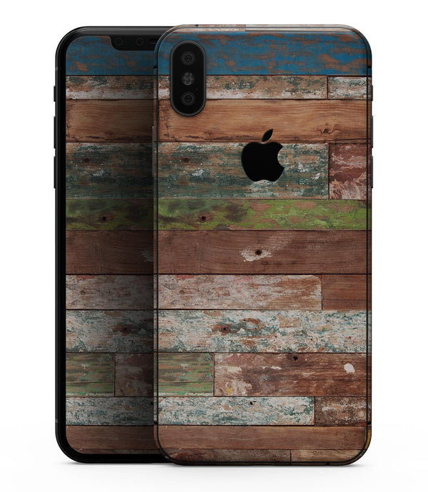 Vintage Wood Planks - iPhone XS MAX, XS/X, 8/8+, 7/7+, 5/5S/SE Skin-Kit (All iPhones Avaiable)
