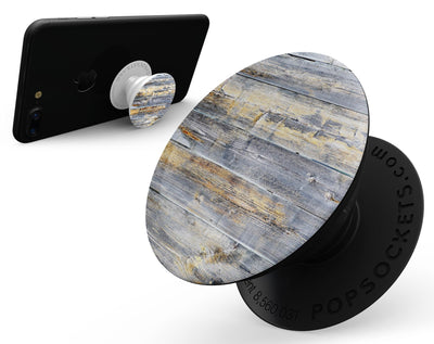 Vintage Wooden Planks with Yellow Paint - Skin Kit for PopSockets and other Smartphone Extendable Grips & Stands