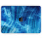 "Vivid Agate Vein Slice Blue V10 - Skin Decal Wrap Kit Compatible with the Apple MacBook Pro, Pro with Touch Bar or Air (11"", 12"", 13"", 15"" & 16"" - All Versions Available)"