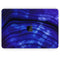 "Vivid Agate Vein Slice Blue V11 - Skin Decal Wrap Kit Compatible with the Apple MacBook Pro, Pro with Touch Bar or Air (11"", 12"", 13"", 15"" & 16"" - All Versions Available)"