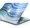 "Vivid Agate Vein Slice Blue V4 - Skin Decal Wrap Kit Compatible with the Apple MacBook Pro, Pro with Touch Bar or Air (11"", 12"", 13"", 15"" & 16"" - All Versions Available)"
