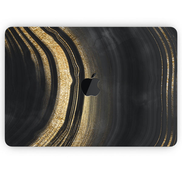 "Vivid Agate Vein Slice Foiled V2 - Skin Decal Wrap Kit Compatible with the Apple MacBook Pro, Pro with Touch Bar or Air (11"", 12"", 13"", 15"" & 16"" - All Versions Available)"