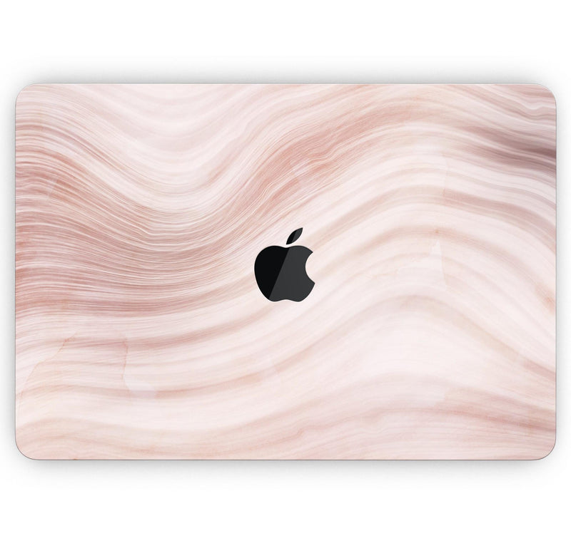 "Vivid Agate Vein Slice Foiled V5 - Skin Decal Wrap Kit Compatible with the Apple MacBook Pro, Pro with Touch Bar or Air (11"", 12"", 13"", 15"" & 16"" - All Versions Available)"