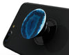 Vivid Blue Agate Crystal - Skin Kit for PopSockets and other Smartphone Extendable Grips & Stands