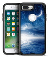 Vivid Blue Falling Stars in the Night Sky - iPhone 7 or 7 Plus Commuter Case Skin Kit