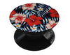 Vivid Tropical Red Floral v1 - Skin Kit for PopSockets and other Smartphone Extendable Grips & Stands