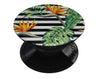 Vivid Tropical Stripe Floral v1 - Skin Kit for PopSockets and other Smartphone Extendable Grips & Stands