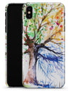 WaterColor Vivid Tree - iPhone X Clipit Case