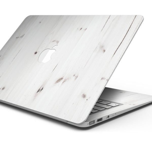 "White Vertical Wood Planks  - Skin Decal Wrap Kit Compatible with the Apple MacBook Pro, Pro with Touch Bar or Air (11"", 12"", 13"", 15"" & 16"" - All Versions Available)"