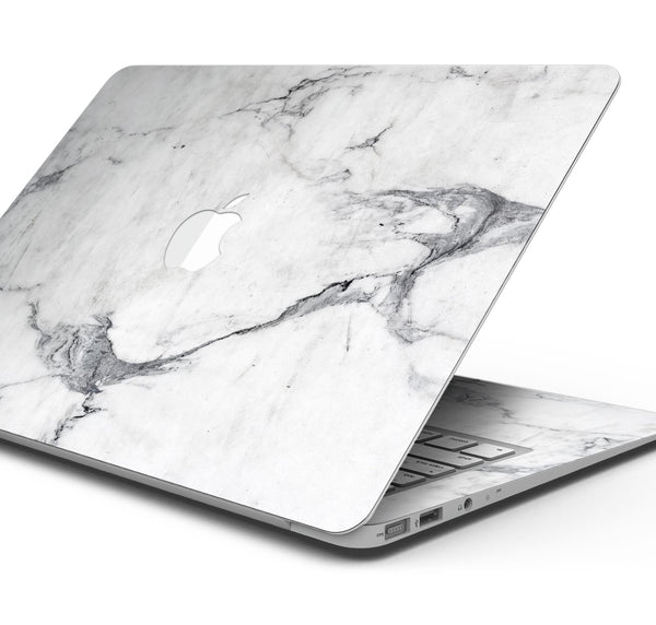 "White & Grey Marble Surface V1 - Skin Decal Wrap Kit Compatible with the Apple MacBook Pro, Pro with Touch Bar or Air (11"", 12"", 13"", 15"" & 16"" - All Versions Available)"