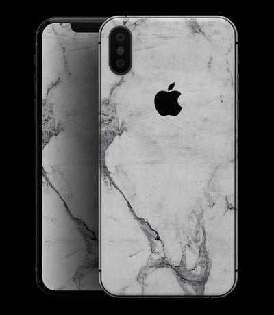 White & Grey Marble Surface V1 - iPhone XS MAX, XS/X, 8/8+, 7/7+, 5/5S/SE Skin-Kit (All iPhones Avaiable)