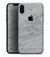 White & Grey Marble Surface V2 - iPhone XS MAX, XS/X, 8/8+, 7/7+, 5/5S/SE Skin-Kit (All iPhones Avaiable)