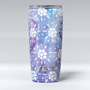 White_Abstract_Flowers_Over_Purple_and_Blue_Cloud_Mix_-_Yeti_Rambler_Skin_Kit_-_20oz_-_V1.jpg