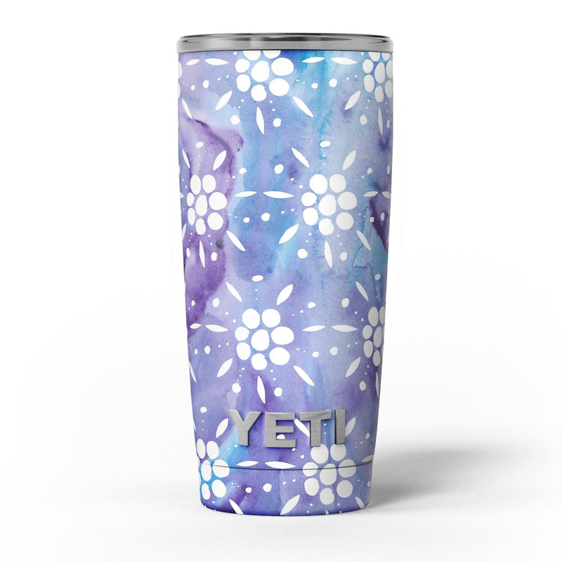 White_Abstract_Flowers_Over_Purple_and_Blue_Cloud_Mix_-_Yeti_Rambler_Skin_Kit_-_20oz_-_V5.jpg