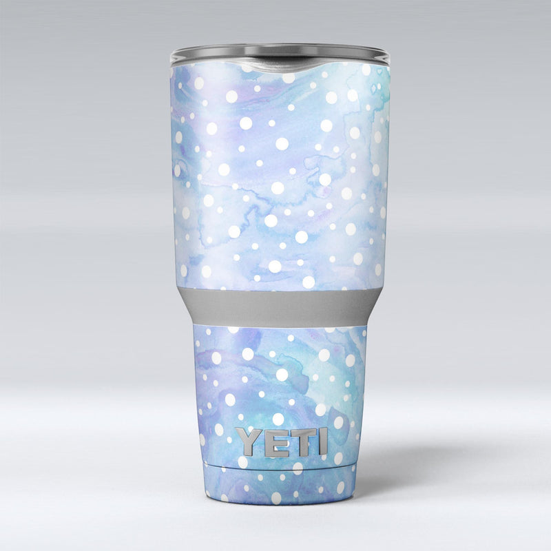 White_Mircro_Dots_Over_Blue_Watercolor_Grunge_-_Yeti_Rambler_Skin_Kit_-_30oz_-_V1.jpg