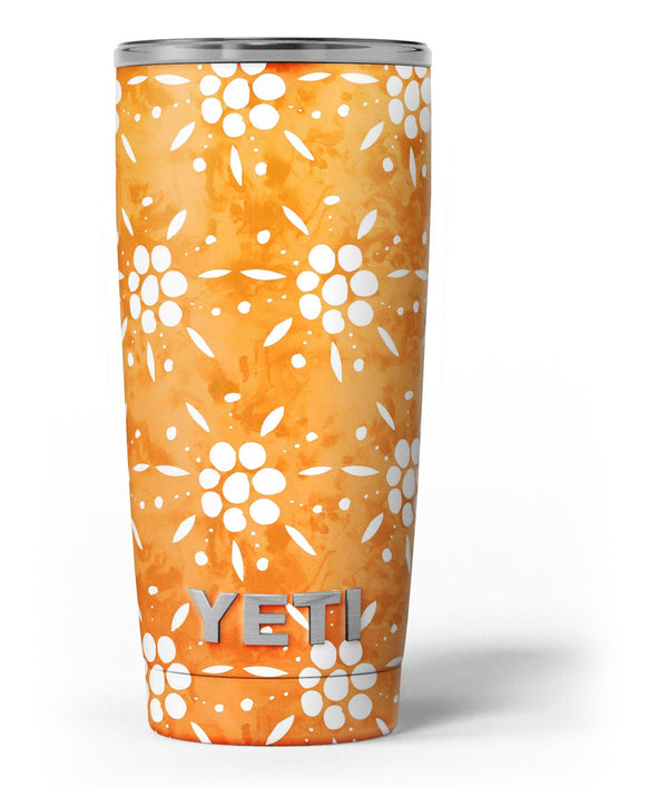 White_Pedals_Over_Watercolored_Shades_of_Orange_-_Yeti_Rambler_Skin_Kit_-_20oz_-_V3.jpg