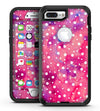 White Polka Dots Over Pink Watercolor Grunge - iPhone 7 Plus/8 Plus OtterBox Case & Skin Kits