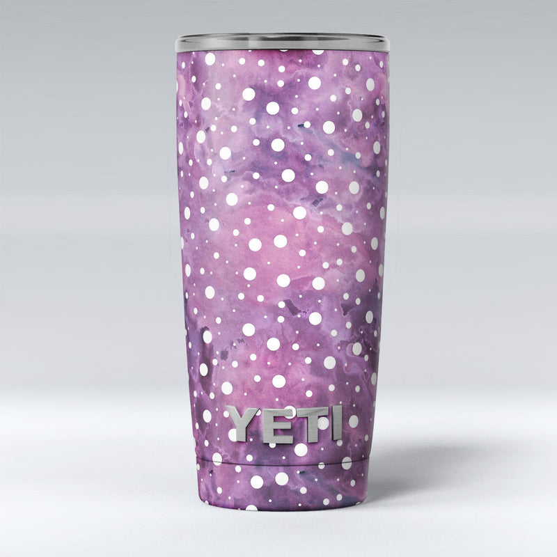 White_Polka_Dots_Over_Purple_Pink_Paint_Mix_-_Yeti_Rambler_Skin_Kit_-_20oz_-_V1.jpg