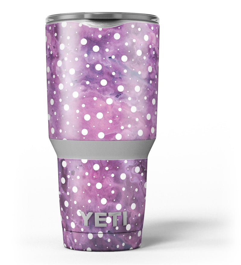 White_Polka_Dots_Over_Purple_Pink_Paint_Mix_-_Yeti_Rambler_Skin_Kit_-_30oz_-_V3.jpg