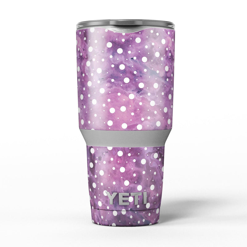 White_Polka_Dots_Over_Purple_Pink_Paint_Mix_-_Yeti_Rambler_Skin_Kit_-_30oz_-_V5.jpg