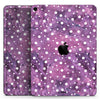 "White Polka Dots Over Purple Pink Paint Mix - Full Body Skin Decal for the Apple iPad Pro 12.9"", 11"", 10.5"", 9.7"", Air or Mini (All Models Available)"