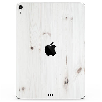 "White Vertical Wood Planks  - Full Body Skin Decal for the Apple iPad Pro 12.9"", 11"", 10.5"", 9.7"", Air or Mini (All Models Available)"