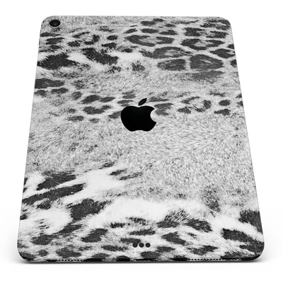 "White and Black Real Leopard Print - Full Body Skin Decal for the Apple iPad Pro 12.9"", 11"", 10.5"", 9.7"", Air or Mini (All Models Available)"