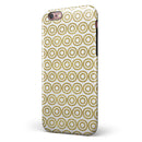 White and Gold Foil v7 iPhone 6/6s or 6/6s Plus 2-Piece Hybrid INK-Fuzed Case