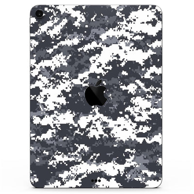 "White and Gray Digital Camouflage - Full Body Skin Decal for the Apple iPad Pro 12.9"", 11"", 10.5"", 9.7"", Air or Mini (All Models Available)"