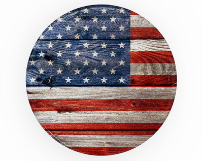 Wooden Grungy American Flag - Skin Kit for PopSockets and other Smartphone Extendable Grips & Stands