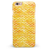 Yellow Basic Watercolor Chevron Pattern iPhone 6/6s or 6/6s Plus INK-Fuzed Case