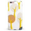Yellow Cartoon Trees iPhone 6/6s or 6/6s Plus INK-Fuzed Case