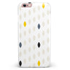 Yellow Gray and Black Droplets iPhone 6/6s or 6/6s Plus INK-Fuzed Case