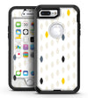 Yellow Gray and Black Droplets - iPhone 7 Plus/8 Plus OtterBox Case & Skin Kits