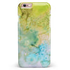 Yellow Green 197 Absorbed Watercolor Texture iPhone 6/6s or 6/6s Plus INK-Fuzed Case