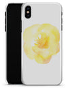 Yellow Orange Watercolored Hibiscus - iPhone X Clipit Case