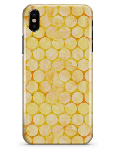 Yellow Sorted Large Watercolor Polka Dots - iPhone X Clipit Case