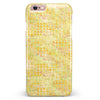 Yellow Textured Triangle Pattern iPhone 6/6s or 6/6s Plus INK-Fuzed Case