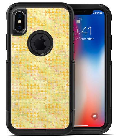Yellow Textured Triangle Pattern - iPhone X OtterBox Case & Skin Kits