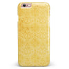 Yellow Vertical Damask Pattern iPhone 6/6s or 6/6s Plus INK-Fuzed Case