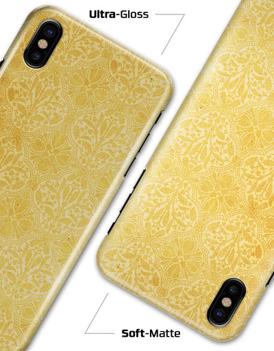 Yellow Vertical Damask Pattern - iPhone X Clipit Case
