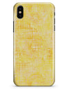 Yellow Watercolor Cross Hatch - iPhone X Clipit Case