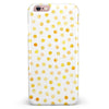Yellow Watercolor Dots over White iPhone 6/6s or 6/6s Plus INK-Fuzed Case
